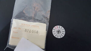 870558 GENUINE DAY DIAL DISK / WHEEL SEIKO 6306, 6309, 7548 CROWN AT 4 O'CLOCK