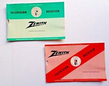 2 Vintage ZENITH TELEVISION RECEIVER Operating Manual