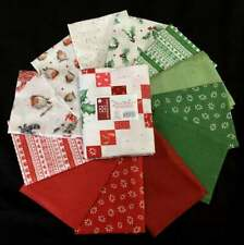 Warm Wishes Quilt Fabric by Hannah Dale 12 Piece Fat Quarters + Panel