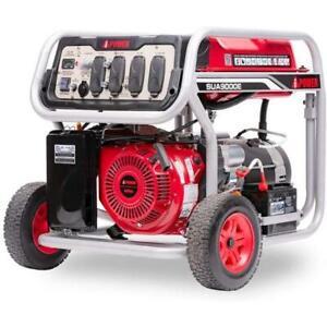 9,000 Watt Portable Gasoline Powered Generator w/ Electric Start SUA9000E