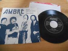 """7"""" Pop Ambre - Rock Dans La Peau / Des Reves (2 Song) LEICO + Presskit"""