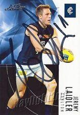 ✺Signed✺ 2012 CARLTON BLUES AFL Card JEREMY LAIDLER