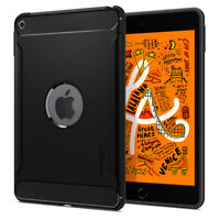 iPad Mini 5 | Spigen® [Rugged Armor] Black Hybrid Shockproof Slim Cover Case