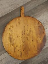 New ListingBeautiful Antique Round Primitive Wood Bread Board Cheese Charcuterie Old