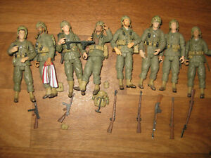 8 LOOSE & COMPLETE Ultimate Soldier 1:18 XD WWII US Marine Corps Figures