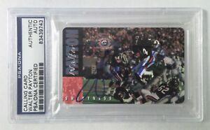Walter Payton Autographed Calling Card Bears HOF - PSA/DNA (Blue Ink)