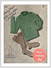1940's Land Girl Jumper and Socks Knitting Pattern