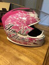 Pink & White Ladies Icon Airframe Helmet-Small