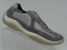 Prada Grey Suede Leather Americas Cup Sport Sneaker Shoes Women's US 7.5 EU 38