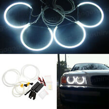 4x CCFL LED Angel Eyes Lights Halo Ring Headlight White For BMW E36 E38 E39 E46