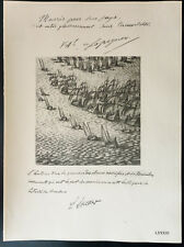 1926 - Lithographie Citation des Amiraux de Lapeyrère, Lacaze (Guerre 14/18)