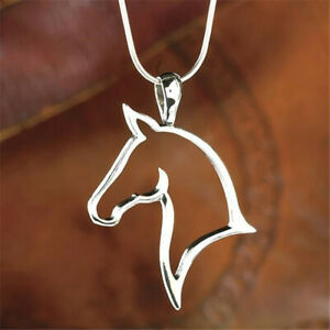 Silver Horse Necklace Pendant on Sterling Silver Chain