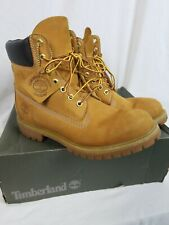 Timberland Waterproof 6in Premium Wheat Mens Boot 10061 Size 9 M Nubuck Leather