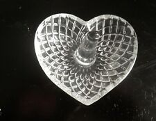 Glass Heart Shaped  Ring Holder brill engagement gift ! romantic love gift