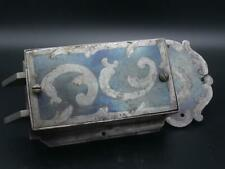 sehr schön verziertes altes Schloß Metallschloß zwei Riegel Verzierung [Schw