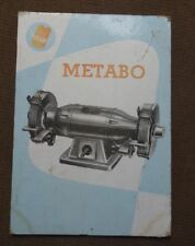 altes Pappschild Metabo Schleifbock