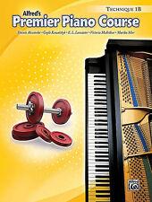 ALFRED'S PREMIER PIANO COURSE TECHNIQUE LEVEL 1B MUSIC BOOK BRAND NEW ON SALE!!