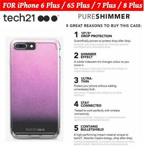 👉For iPhone 6+/6S+/7+/8+ (PLUS)👈Tech21 BulletShield™ Case Pure Shimmer Cover