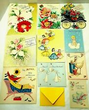 Vintage Ephemera Used Greeting Cards Birthday, Birth Announcements, Mother's Day