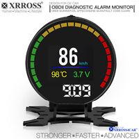 XRROSS OBD2 OBDII Car Diagnostic  Scanner Check Engine Alarm Monitor LCD display
