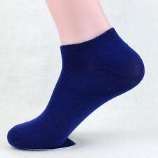 1 Pairs Fashion Men Womens Crew Ankle Cut Sports Socks Blue Fashion Blue 10-13