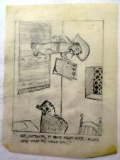 AL KILGORE pencil drawing 8 x 10 FLOOR COVERING WEEKLY Magazine Cartoon AKd343