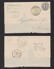Portugal 1881 Wrapper and 1940 Registered Cover Lot