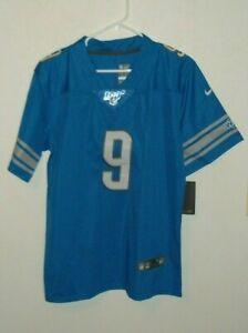 # 9 DETROIT LION MATTHEW STAFFORD  NIKE JERSEY YOUTH SIZE NEW DRY FIT  XL