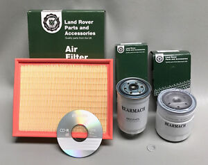Land Rover Discovery 300 Tdi Filter Kit 1994 to 1998 with Workshop Manual CD