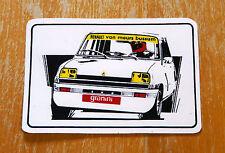 Renault 5 Turbo Blanco granini Carrera Motorsport Sticker Decal