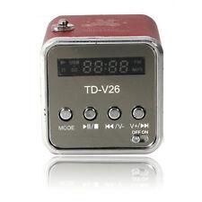 Mini Portable TF SD USB FM Built-in FM Radio Stereo Music Speaker PC Mp3 Red CA