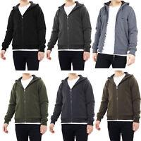 Mens Hoodie Brave Soul Zone Sherpa Fleece Lined Zip Up Hooded Sweater Top Jacket