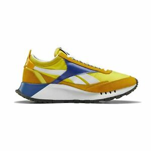 Reebok Classic Legacy FY8326 Mens Yellow Suede Lifestyle Sneakers Shoes