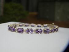 Lovely 10k Gold Amethyst Bracelet