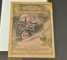 Antique Vtg 1905 Early Santa Automobile Christmas Catalog Bargain Book Chicago