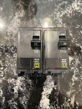 Square D Qo230 Lot 1- 30 A 2 Pole Miniature Circuit Breaker And 2pole 20