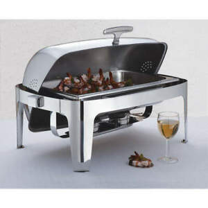 AMERICAN METALCRAFT ADAGIORT26 Chafer,Roll Top,Stainless,9 qt.