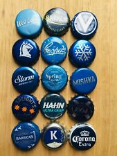 15 x BLUE Mixed Crown Seal Bottle Tops Caps
