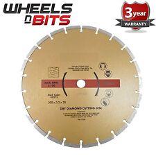 """12"""" 30cm Diamond Cutting Disc Blade Angel Grinder Cutting Saw 300mm Stone Brick"""