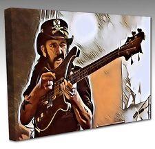 LEMMY Of MOTORHEAD Large 16x12 Inch Pop Art Canvas Art Picture Print NEW