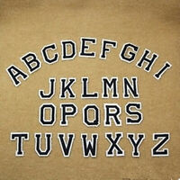 Letter A-Z Embroidered Iron On Patch Sew DIY 26pcs Accessories Nice L0T4