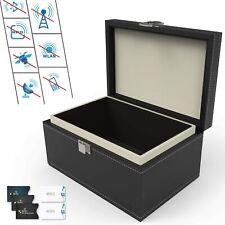 Car Key Faraday Box Signal Blocker Box Key Fob Cellphone Privacy Protector