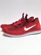 best loved 61100 efeff Nike Free RN Flyknit 2017 Mens Running Shoes 14 Team Red 880843 600