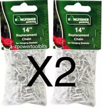 """X2  14"""" Fits10""""/12""""/14""""/16"""" REPLACEMENT ZINC CHAIN FOR HANGING  BASKET GARDEN"""