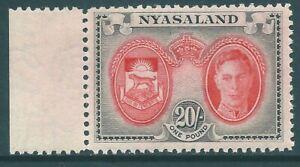 NYASALAND 1945 George VI mint 20/- SG157