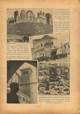 Ruins Spanish Civil War/ Église Sainte-Jeanne-de-Chantal Paris 1936 ILLUSTRATION