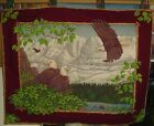 """EAGLE ROOST, Vintage Wall Hanging, Tapestry, PATRIOTIC, Cotton, 42"""" x 32"""""""