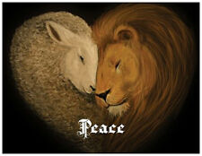 20 CHRISTMAS Lion LAMB PEACE Love JOY Greeting Flat CARDS Envelopes Seals
