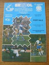 13/03/1984 Bristol Rovers v Port Vale [Associate Members Cup] (Creased).