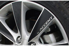 """4 wheel Mask Tunning 16"""" Carbon Sticker for 2011 2014 Hyundai Accent Solaris"""